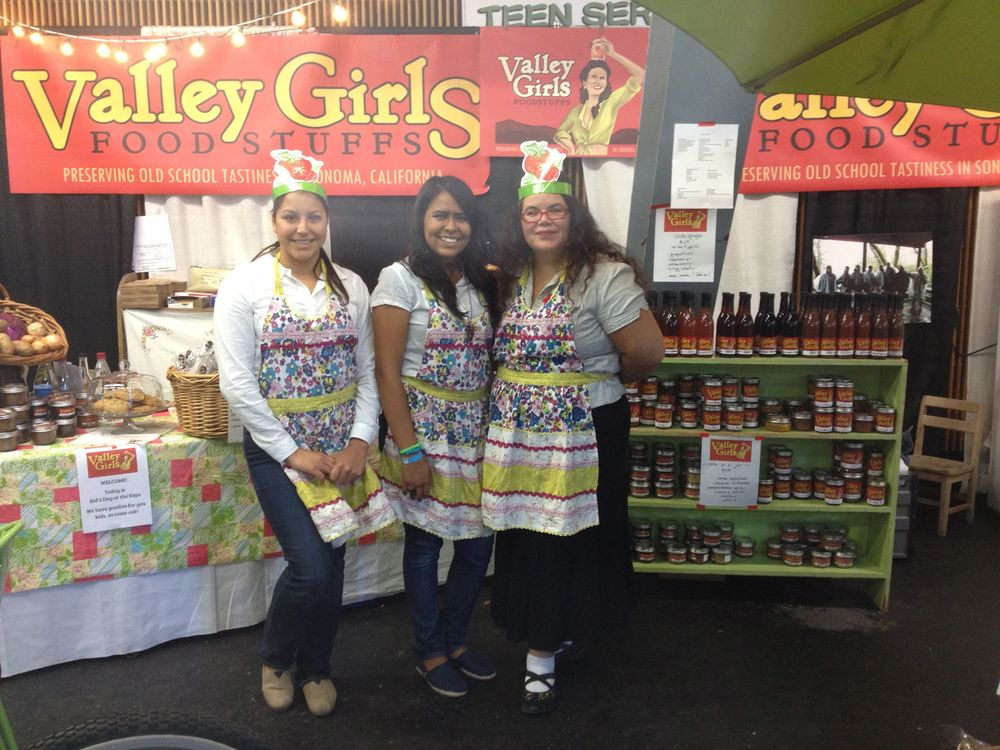 Esther, Julie and Anea at the Heirloom Food Expo.