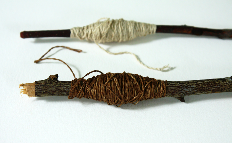 no. 5 thread dyed with onion skins and dandelion