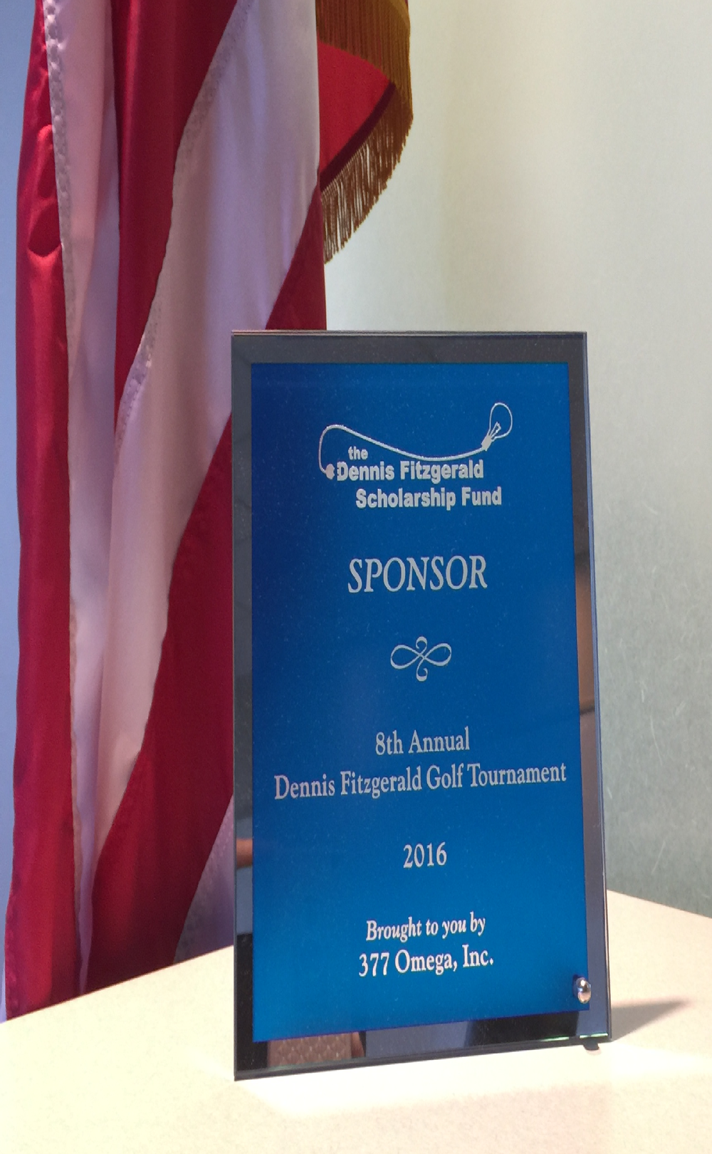 Each sponsor will also receive an appreciation plaque!