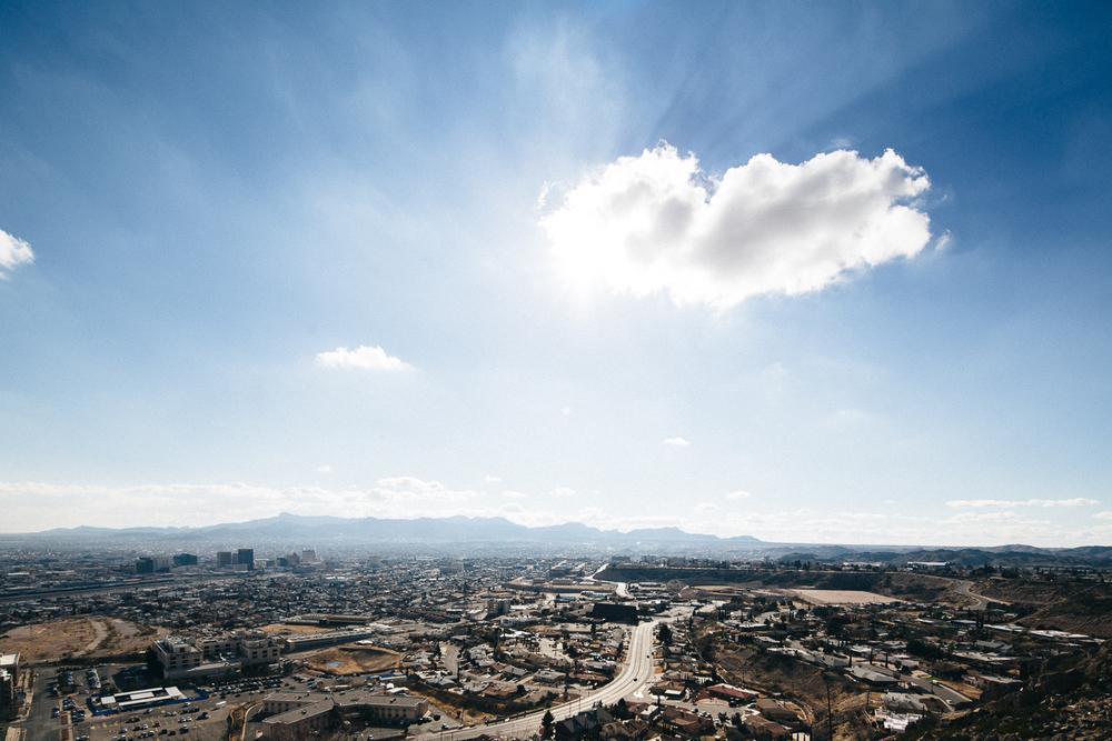El Paso, Texas skyline looking into Juarez, Mexico. Michael Lim Photography 2015 ©