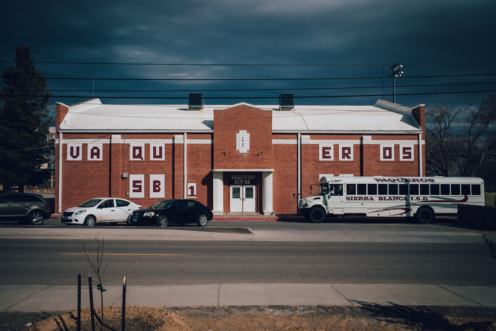 A small school on the road south towards Marfa. Michael Lim Photography 2015 ©