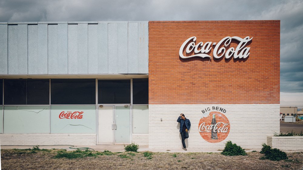 Ben outside of the Big Bend Coca-Cola building. Michael Lim Photography 2015 ©