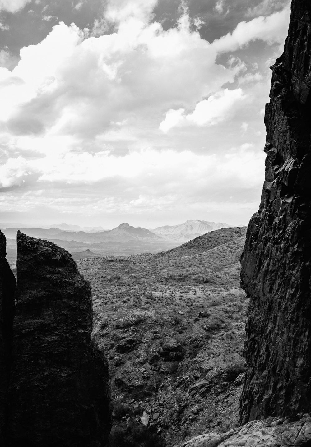 "The view from the edge of the waterfall at ""The Window,"" in Big Bend National Forest, Texas. Michael Lim Photography 2015 ©"