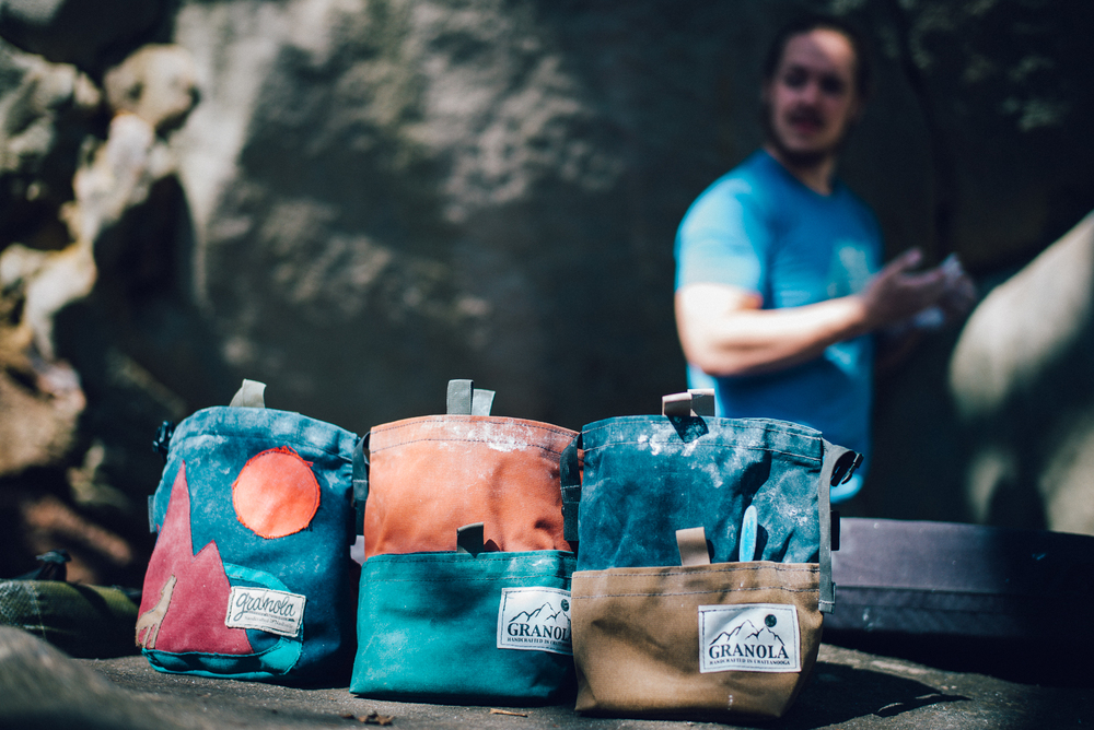 Cody Grodzki and Granola Chalk bags.