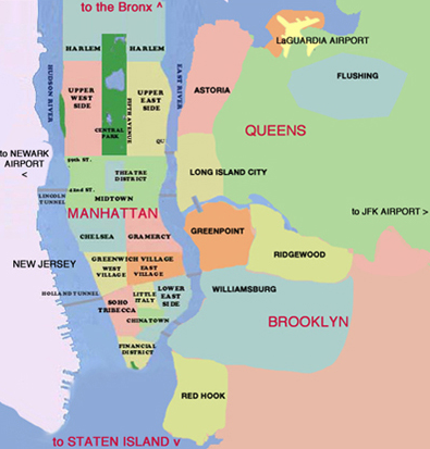 NEW YORK CITY, BROOKLYN & QUEENS