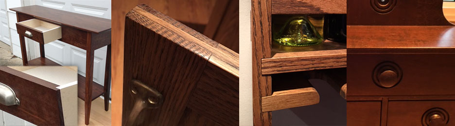 Fine Craftsmanship Is Evident In Details, Such As Woodworking Joints And  Ornamental Elements And Lines