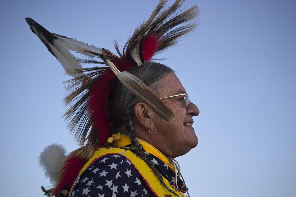 Pine Ridge Powwow opening ceremonies.