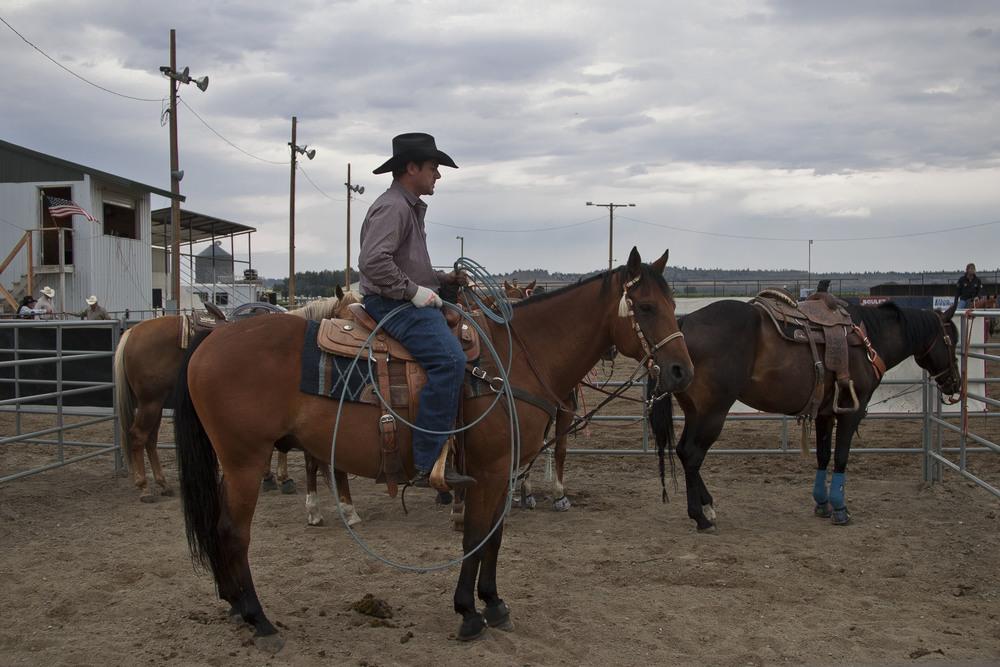 Local rodeo in Worden, Montana.