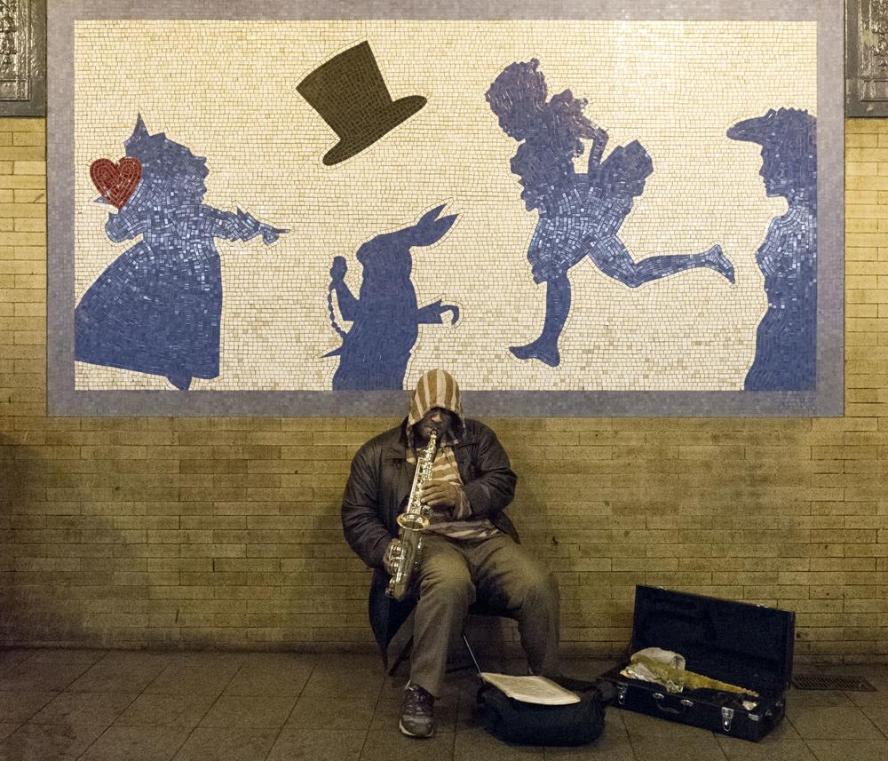 Alice in Wonderland, 50th street. 3/28/14