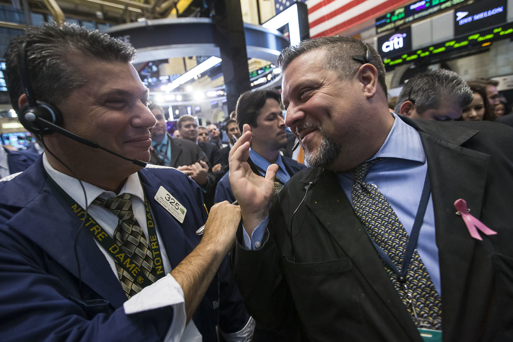 Sharing a laugh during a stressful IPO.