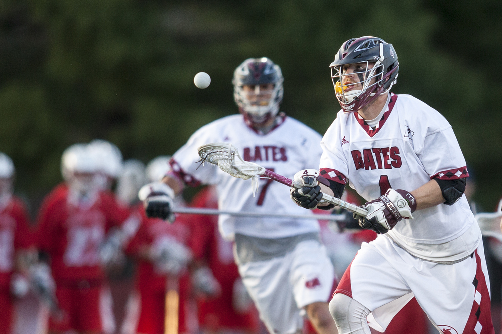 Tucker White '15 wins another ground ball in Bates' NCAA Men's Lacrosse Tournament win over Keene State