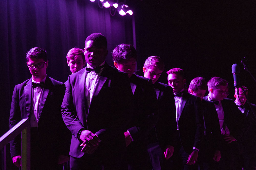 The annual Back to Bates Acapella Concert is held in the Clifton Dagger Gray Athletic Building on Friday, Oct. 7 2016.