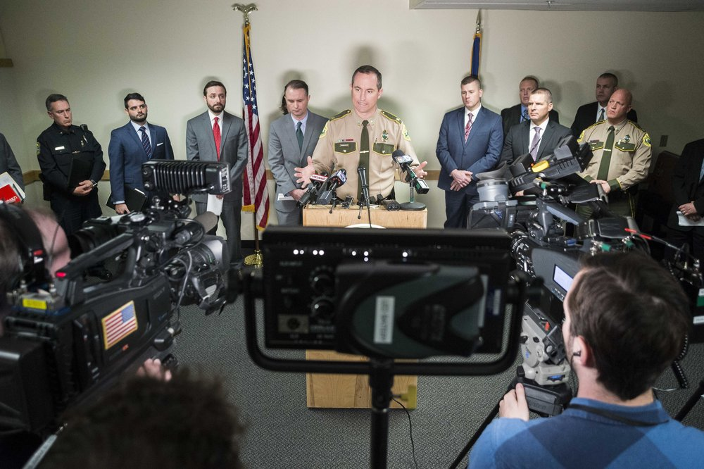 Vermont State Police's Colonel Matthew Birmingham answers questions at a press conference on April 17th, 2018 in Montpelier, held to divulge the details and conclusion of the state's investigation into David Giffin's police shooting death at Montpelier High School in January.