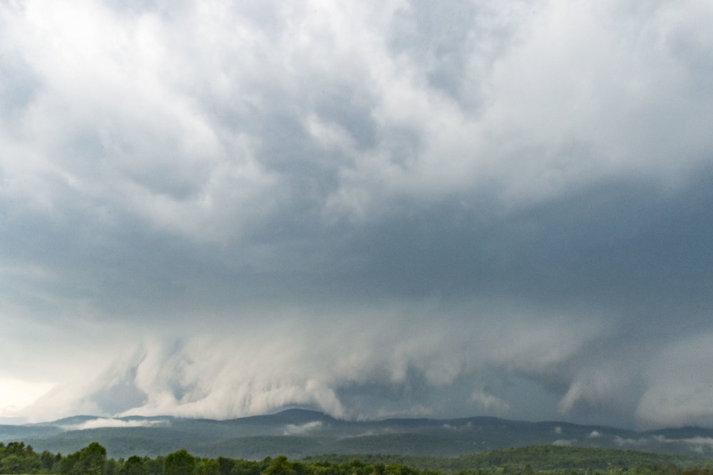 Severe storms approach Montpelier from the west on June 18th, 2018.