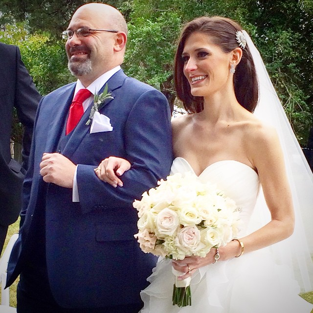Dad leading me down the aisle like the Queen that I am :)