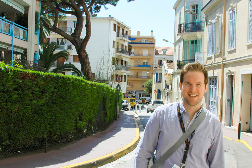 Ryan Geiger exploring the streets of Cannes, France