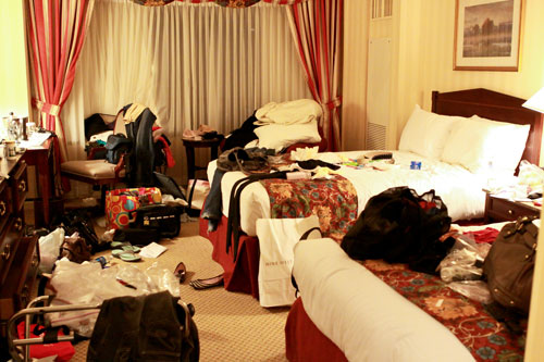 Image result for messy hotel room