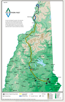 Northern Pass Route Map posted on project website www.northernpass.us