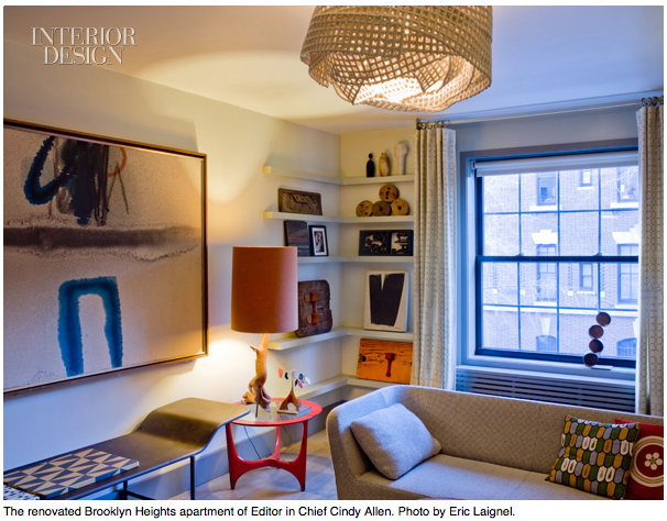 The removated apartment of Cindy Allen, Editor in Chief