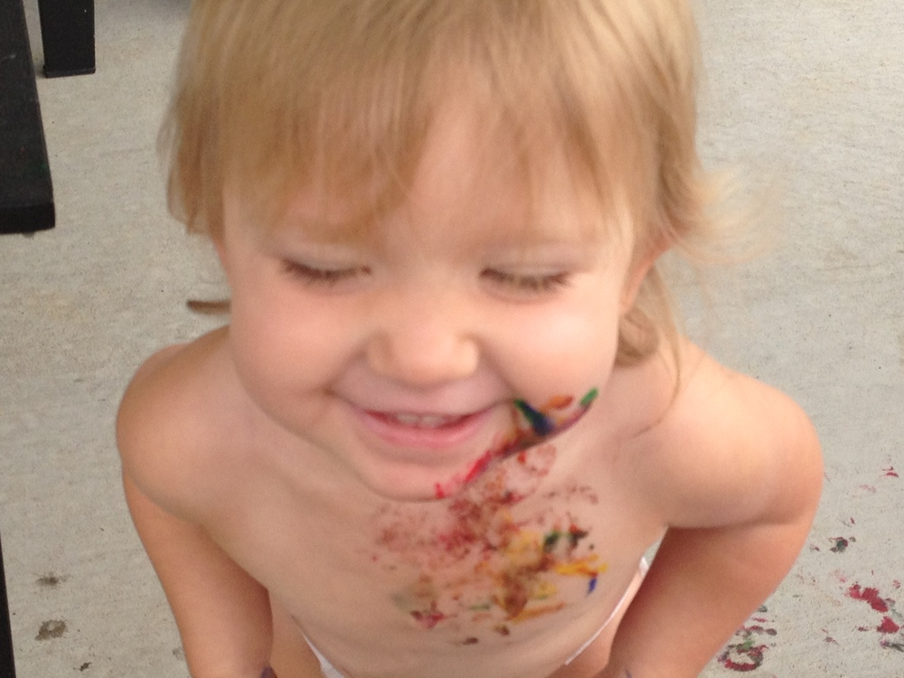 Finger-Painting with #BabyMadison