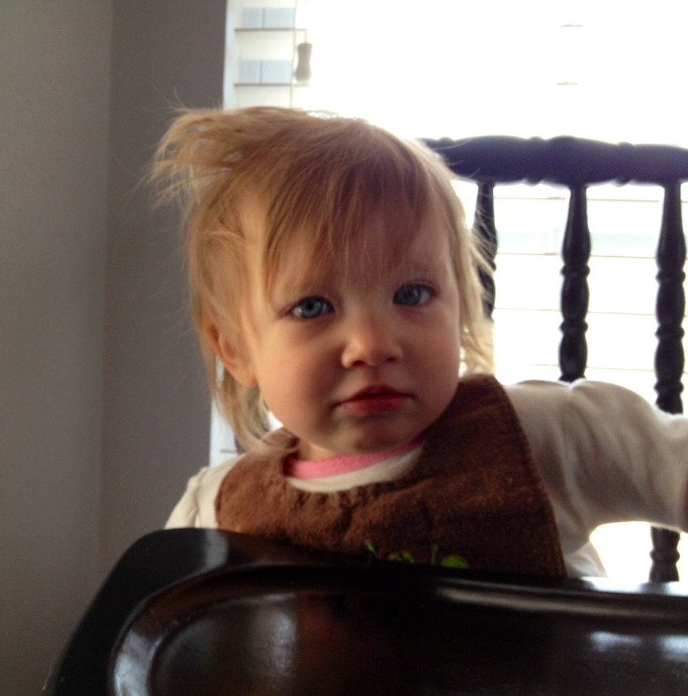 #BabyMadison has hair-style independence today