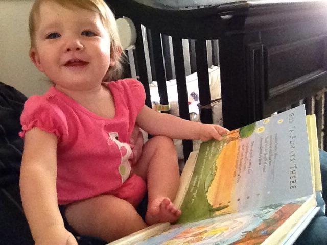 #BabyMadison reading the storybook Grammy recorded