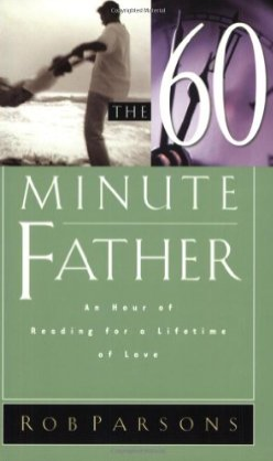 "This week I finished reading The 60 Minute Father by Rob Parsons (2002 edition). I'm not sure who gave it to me or where I picked it up ... but I really enjoyed the reading.  There are others in the series for Moms, so don't panic! :) I recommend the book -- however my recommendation must come with this warning ... there are tongs of great principles, but they are all wrapped up in ""guilt trip"" stories.  Now that I got that off my chest, I can assure you that it is worth the 60 minutes or so it takes you to read it.  I chose to break up the reading over the course of a couple of weeks.  As I reflected on each lesson and let it soak in, it helped me to really ""own"" each one. This book isn't for any particular ""age"" or ""stage"" of dad ... there's lots of practical advice for brand new dads (like me!) and dads with older children.  Here are a handful of quotes  that were among my favorites: The greatest illusion of all is that there is a slower day coming. Children love receiving letters - any chance you get, drop them a line in the mail. No one was ever heard to say on their deathbed, ""I wish I had spent more time at the office."" If we listen to our kids when they are 5, 6, & 7 ... they may listen to us when they are 15, 16, & 17. Kneel to talk to toddlers and listen with your EYES. Don't tell me how long you work - tell me what you get done. When communicating with children, you have to put in a lot of QUANTITY time in order to see QUALITY time really happen."