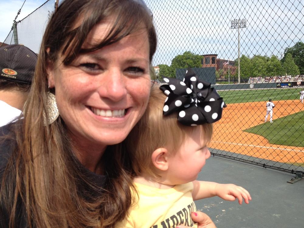 Vandy Baseball w Emily & #BabyMadison