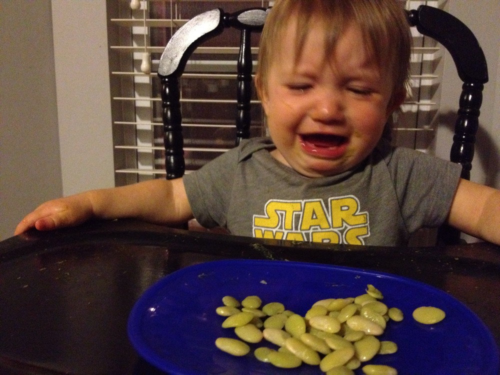 #BabyMadison trying butter beans+Reaction