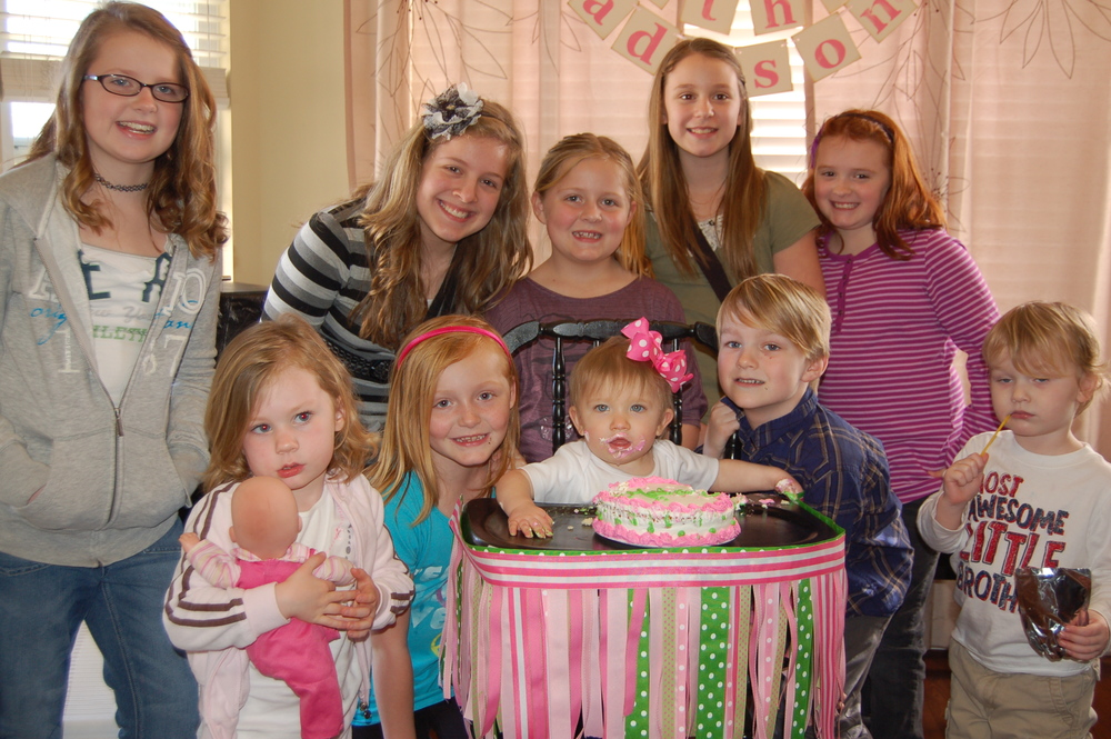 1st B-day party for #BabyMadison