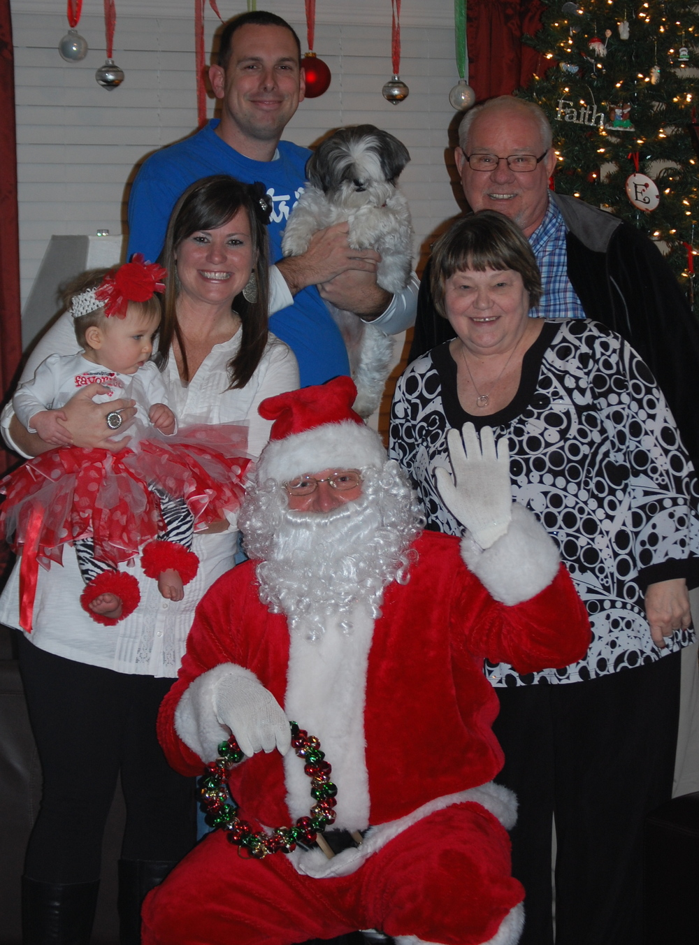 Christmas Eve #BabyMadison gets a visit from Santa
