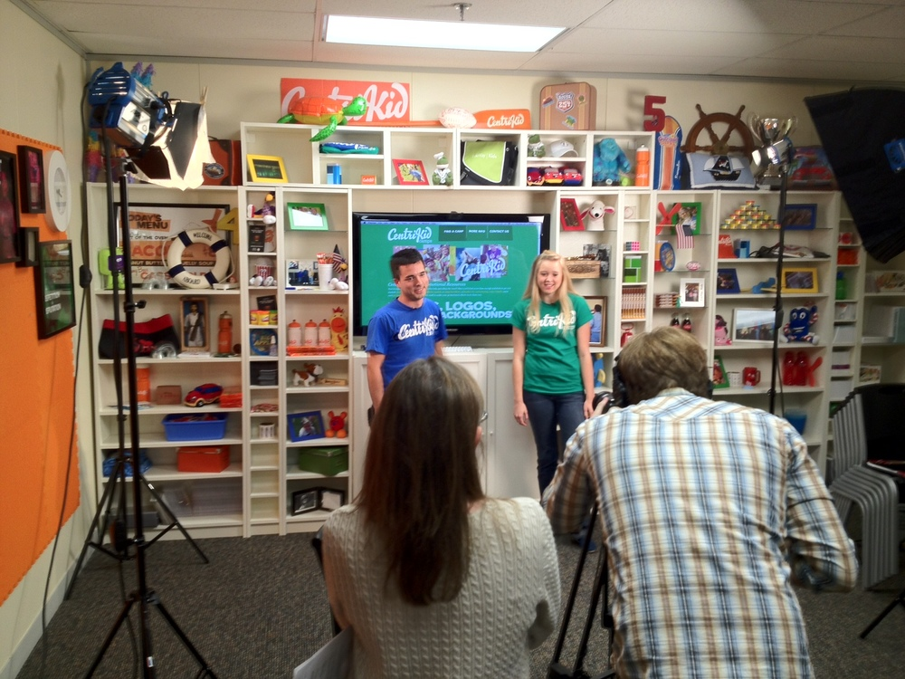 Here is a look behind the scenes as Andy & Lydia were filming today for an upcoming video for the CentriKid Camps website! JE Sent from my iPhone