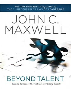 """This is another great leadership book from John C. Maxwell. The assumption he makes is that everyone is talented, so the difference is what you do with your talent, and it takes more than just pure talent to be successful. Like most Maxwell books, he does a great job of illustrating each point with stories from history, sports, and American culture. To take talent and become successful, Maxwell emphasizes the importance of hard work and preparation. Being intentional about developing the talent of an individual and those around him is critical to reaching one's potential. One of my favorite things about reading """"Beyond Talent"""" is that similar to many books by Maxwell, he emphasizes the importance of character, teachability, and teamwork. These are non-negotiables for any leader trying to maximize trying to reach success and maximize his influence. This book is a good read, easy to work through with great quotes, stories, and one-liners. The pace is quick for each chapter, but the content is thorough and challenging. Each chapter concludes with reflection questions which make this book great for reading groups or mentoring young leaders. I received this book free from Thomas Nelson Publishers as part of their BookSneeze.com <http://BookSneeze.com> book review bloggers program. I was not required to write a positive review. The opinions I have expressed are my own. I am disclosing this in accordance with the Federal Trade Commission's 16 CFR, Part 255 <http://www.access.gpo.gov/nara/cfr/waisidx_03/16cfr255_03.html> : """"Guides Concerning the Use of Endorsements and Testimonials in Advertising."""""""