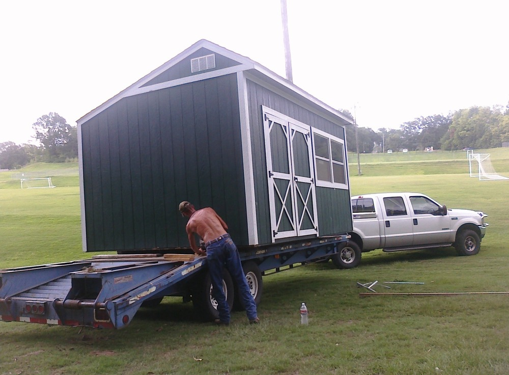 Transporting a shed for @centrikidcamps this summer