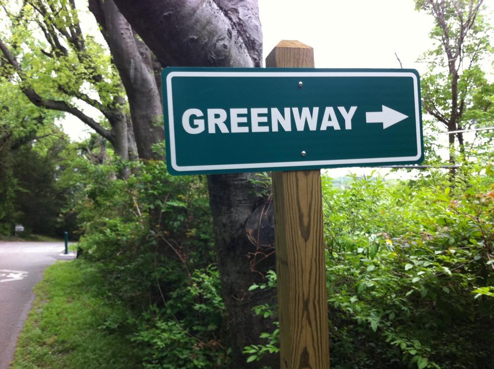 Tonight's walk: the greenway