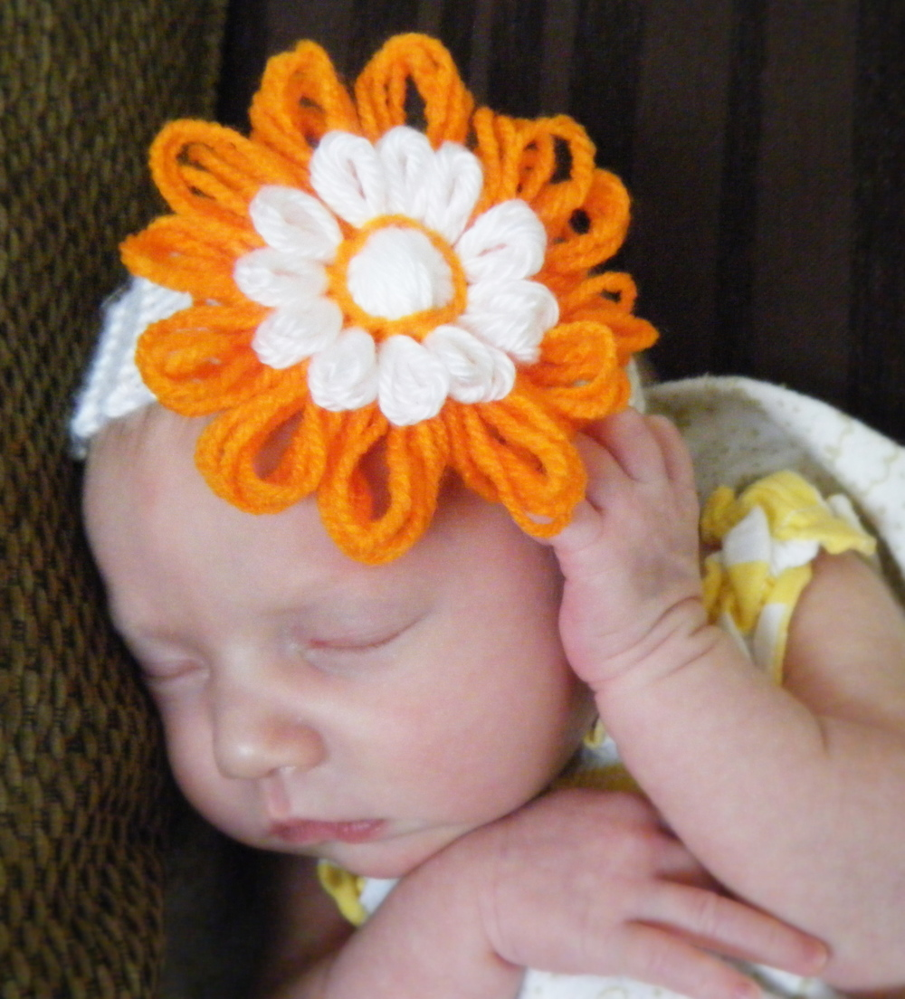 Pics of #BabyMadison in Carmen's Etsy headbands