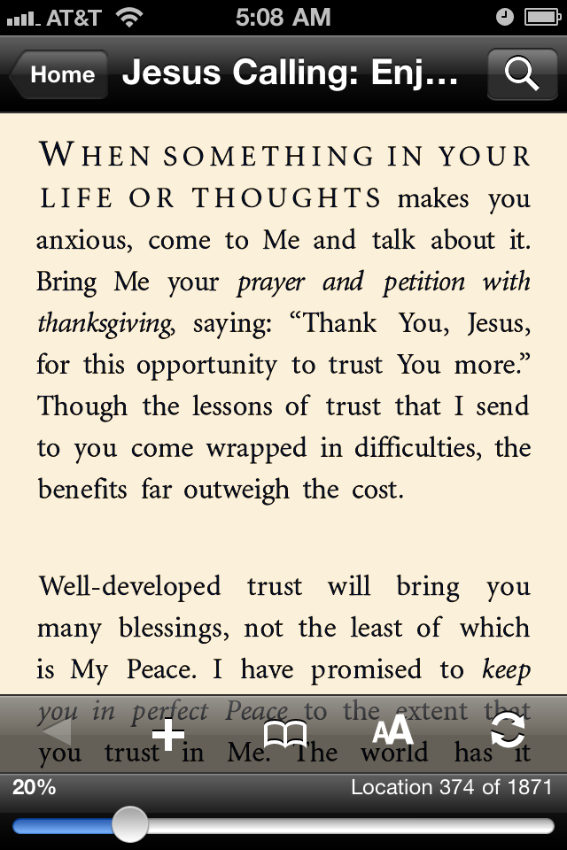 This is a screenshot from this morning's devotion.   JE  Sent from my iPhone
