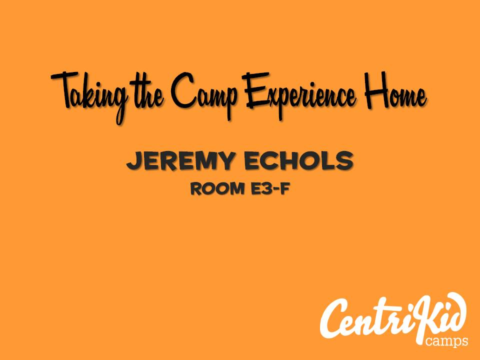 Workshop: Taking the Camp Experience Home