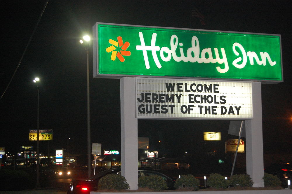"Pics from when I was ""Guest of the Day"" at the Holiday Inn this summer!"