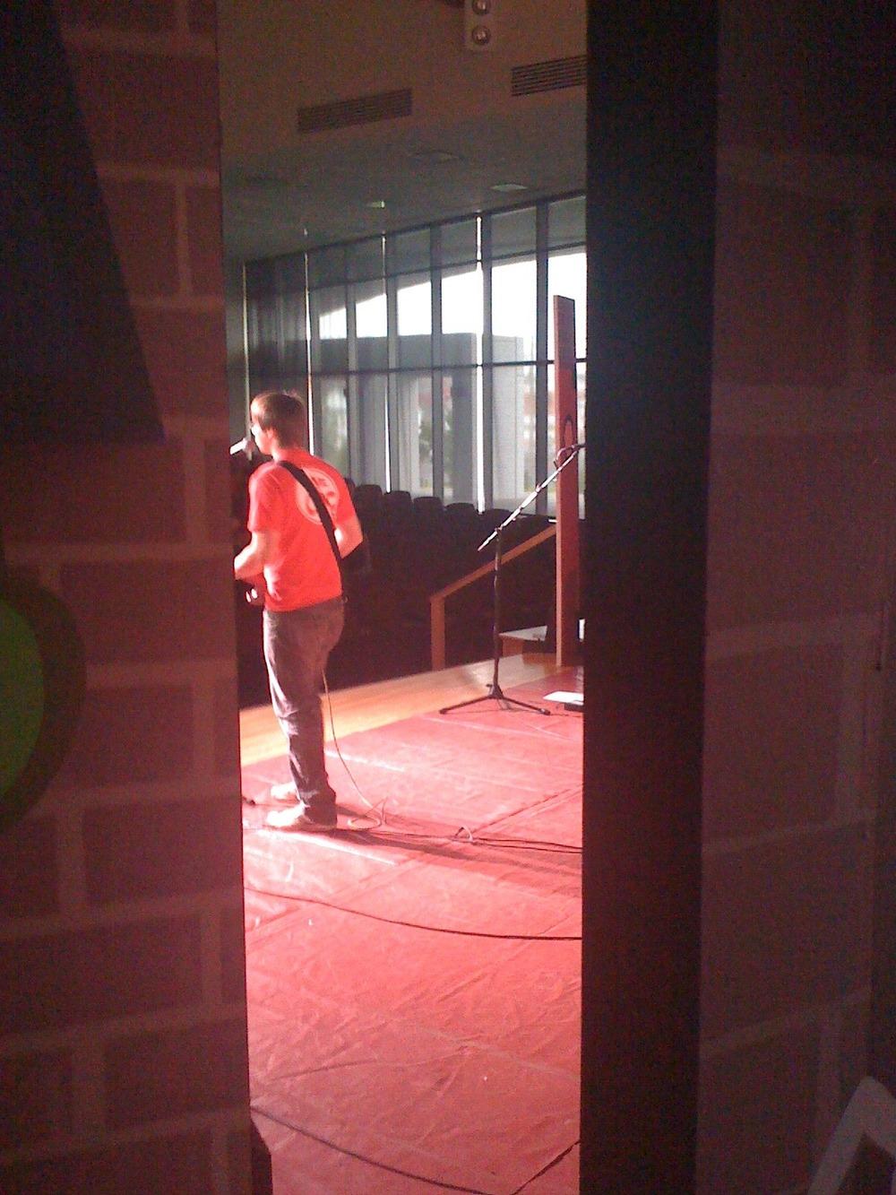 Backstage at Training Week 5-30
