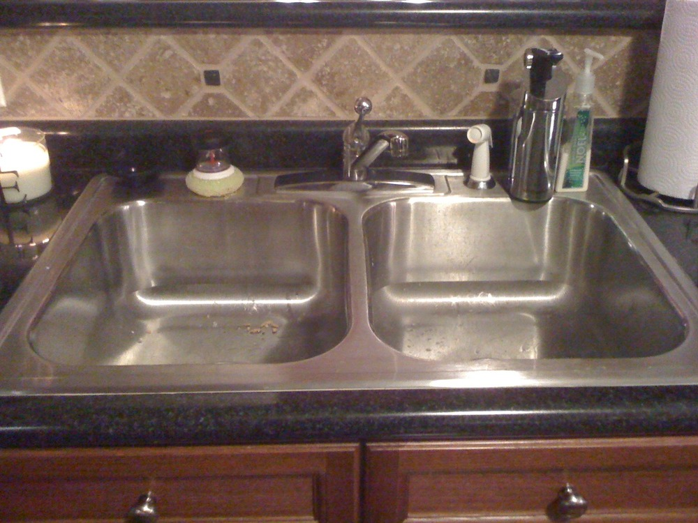 Mar 8: tonights project is changing the kitchen sink faucet