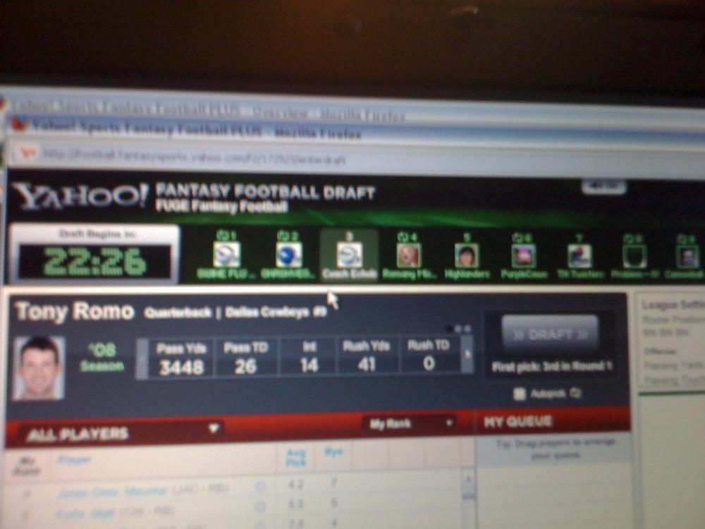 Fuge fantasy football. Draft Night
