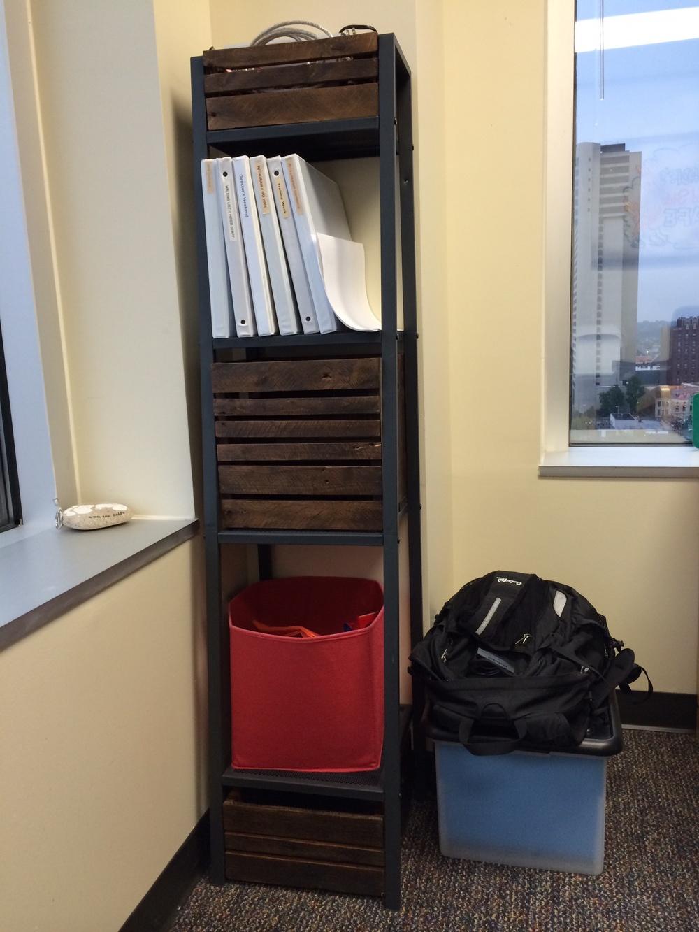 Custom Office Shelf Crates