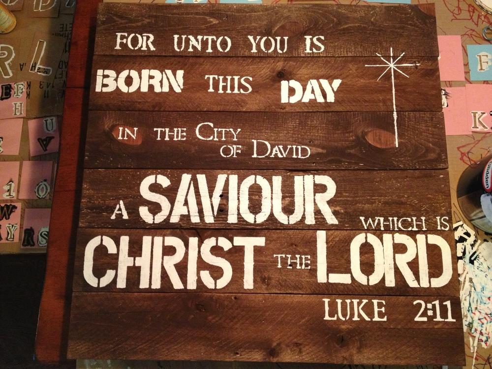 Luke 2:11 sign