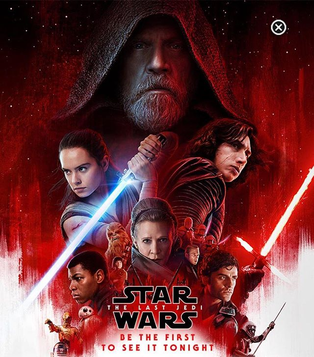 Tonight 7pm - Regal Theater in MJ. Anybody else seeing #starwars #thelastjedi tonight besides me and #babymadison ?
