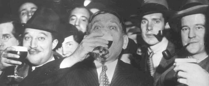 H.L Mencken and Friends Celebrate the End of Prohibition (1933)