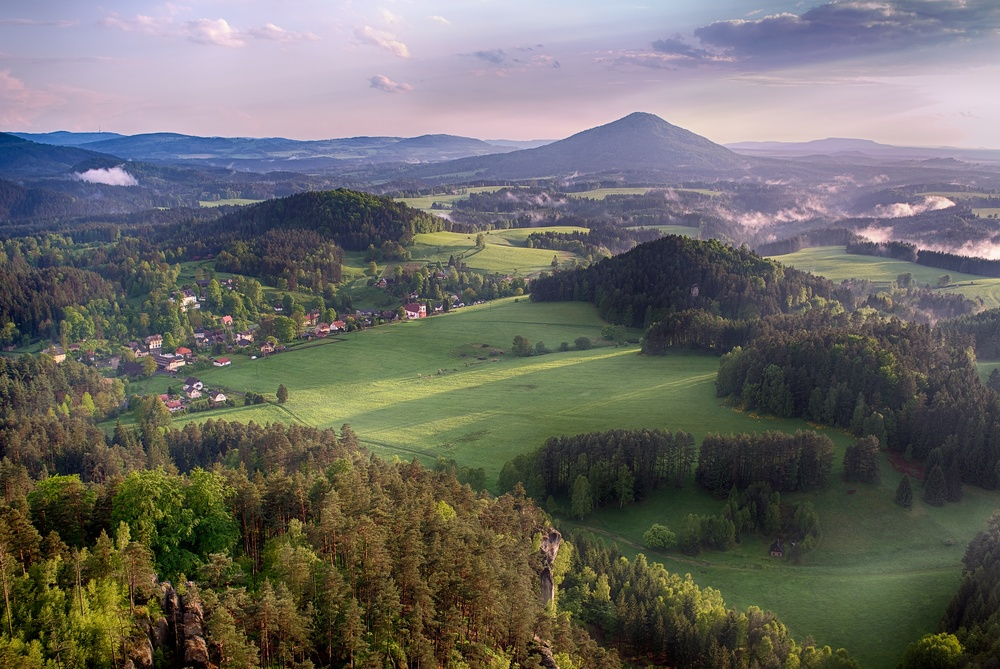 View from Mariina vyhlidka in Jetrichovice, Bohemian Switzerland, Czech Republic