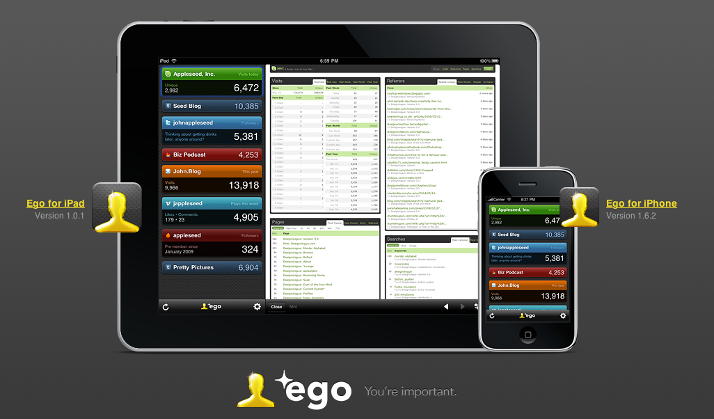 I've been experimenting with Ego for iPad for the last half hour, and the verdict is in. It's brilliant.