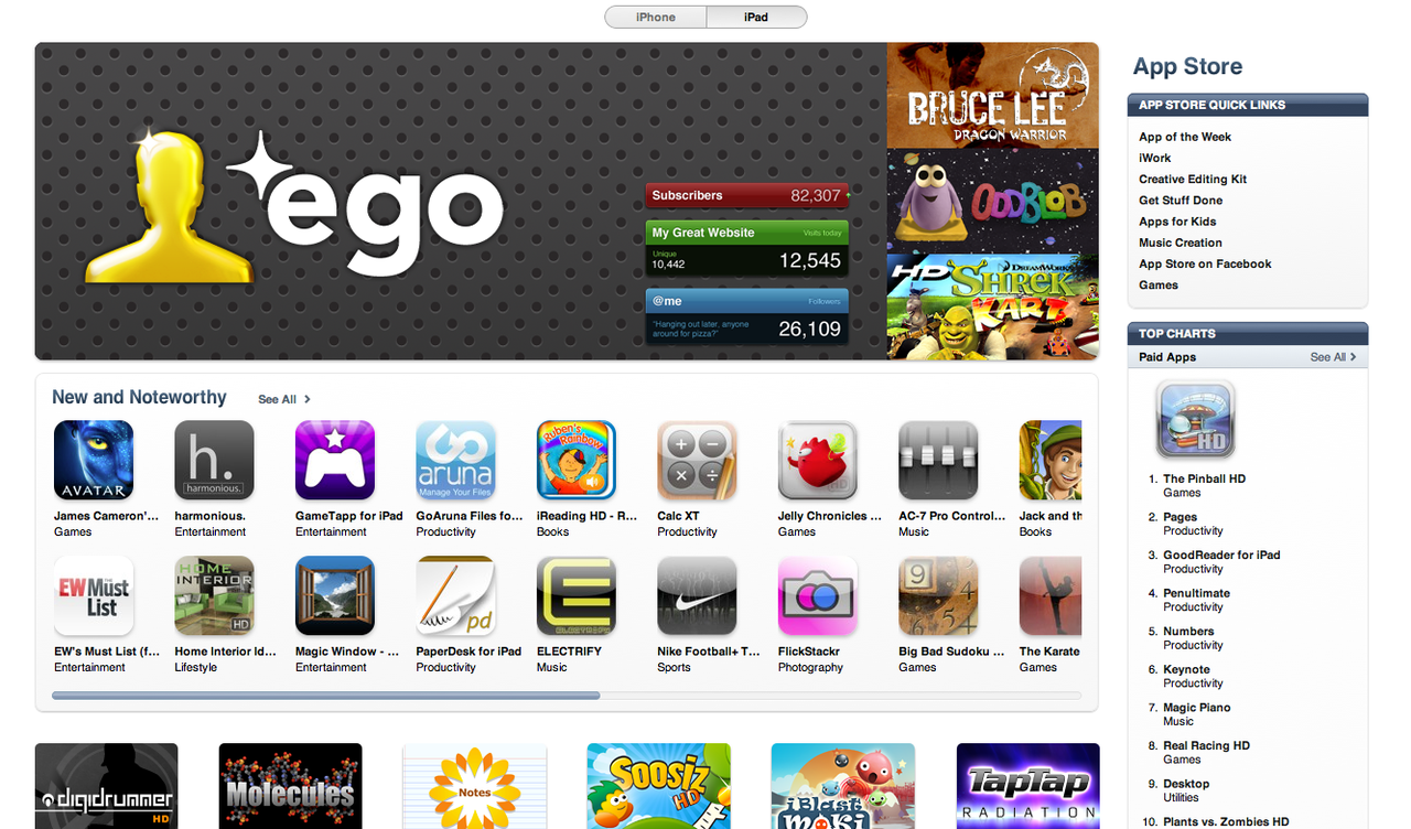 Very pleased to see one of my favourite apps getting prominent placement on the App Store. If you run any type of website, you should certainly give Ego a try.