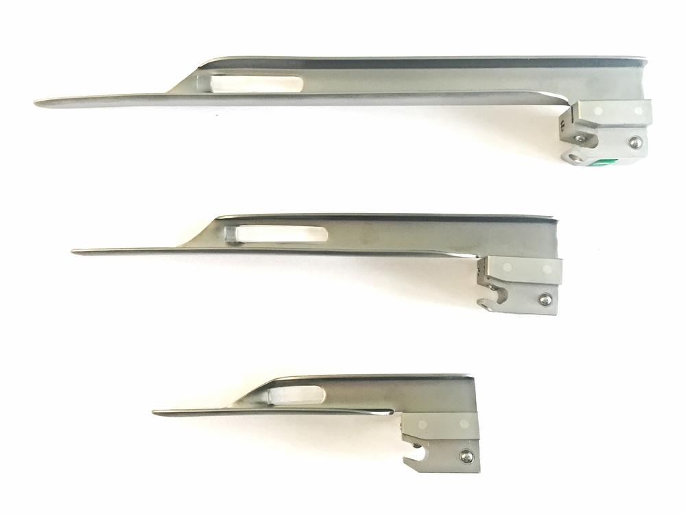 Laryngoscoop bladen Miller size 00, 0, , 2, 3 en 4